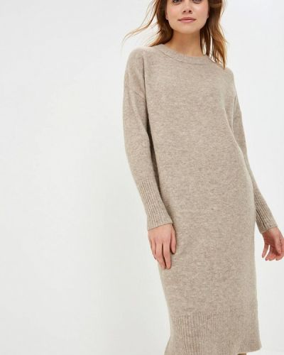 Платье осеннее бежевое Selected Femme