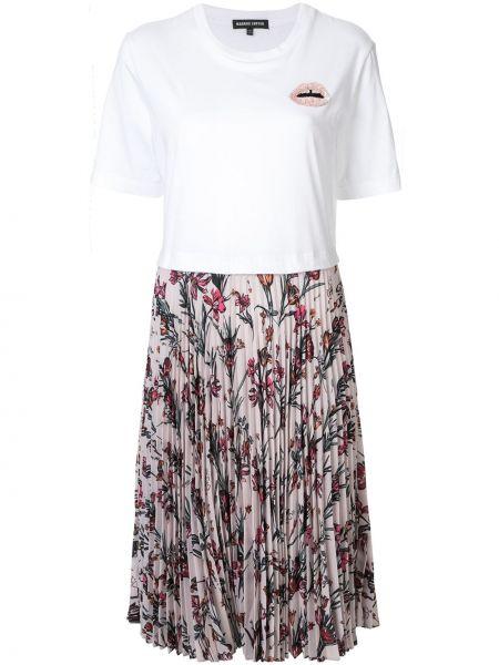 Платье мини футболка со складками Markus Lupfer