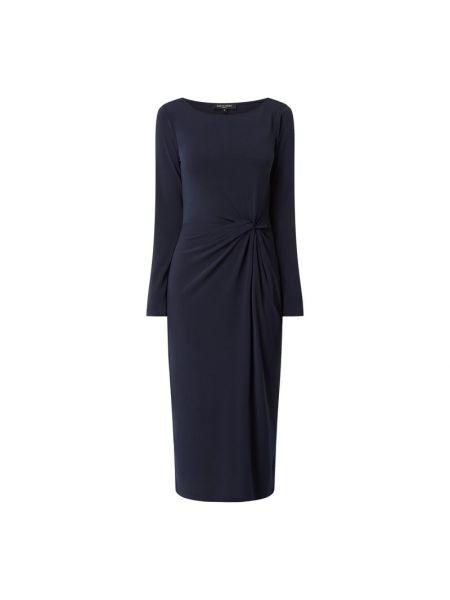 Sukienka rozkloszowana z długimi rękawami - niebieska Ilse Jacobsen