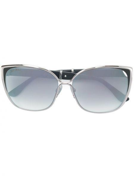 Золотистые желтые солнцезащитные очки Jimmy Choo Eyewear