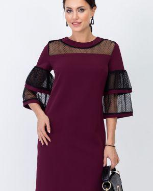 Платье бордовый сетчатое Taiga