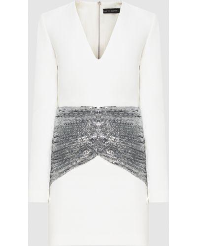 Белое платье миди David Koma