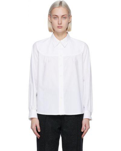 Хлопковая белая рубашка с длинными рукавами A.p.c.
