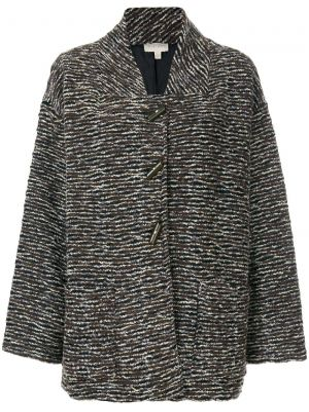 Шерстяное пальто с капюшоном Krizia Pre-owned