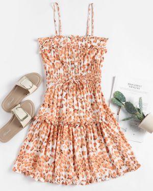 Платье мини леопардовое Zaful