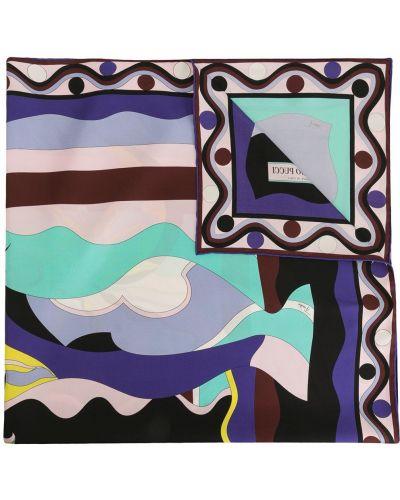 Платок фиолетовый длинный Emilio Pucci