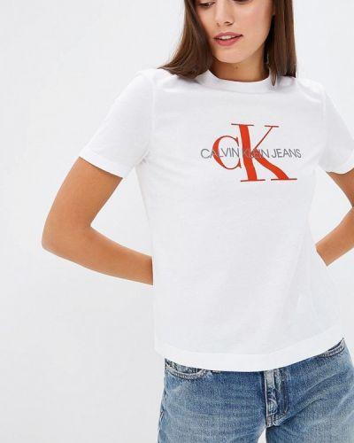 Белая футболка 2019 Calvin Klein Jeans