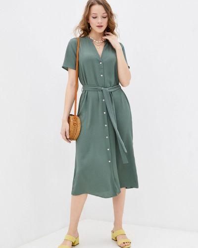 Бирюзовое платье рубашка Vero Moda