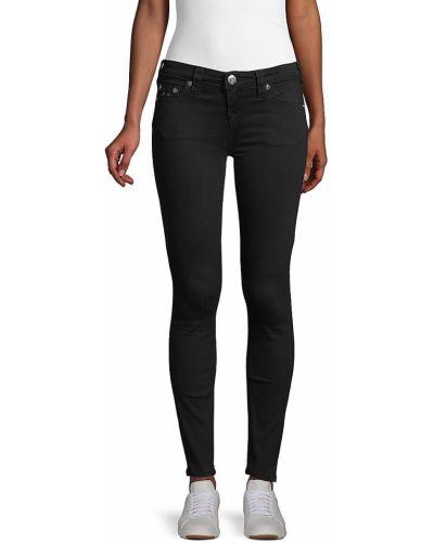 Джинсовые зауженные джинсы - черные True Religion