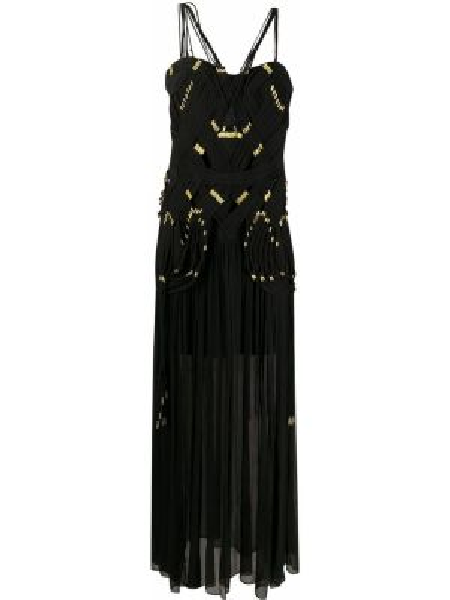 Шелковое платье с бисером без рукавов с вырезом Thurley