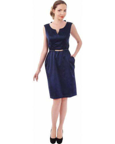 Прямое платье - синее Golda