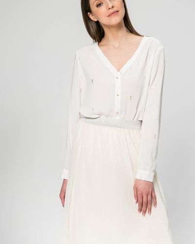 Белая блузка с V-образным вырезом Answear
