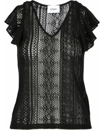 Czarna bluzka z siateczką Dondup