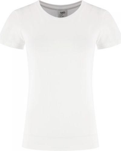 Приталенная хлопковая белая футболка Gsd