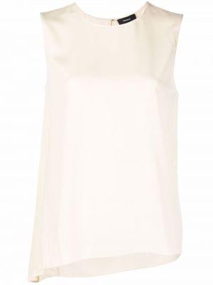 Белая блузка из полиэстера Theory