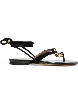 Кожаные сандалии - черные Gia Couture