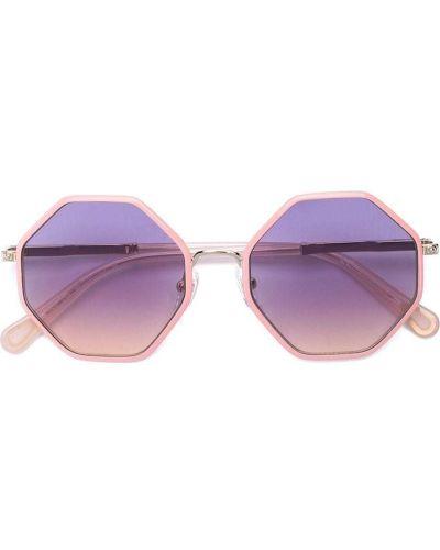 Złote różowe okulary Chloé Kids