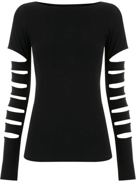 Хлопковая футболка - черная Gloria Coelho