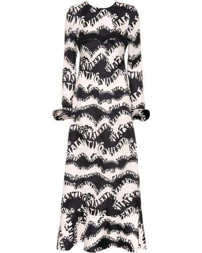 Вечернее платье шелковое черное Valentino
