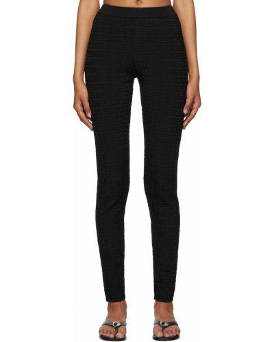Черные леггинсы с узором Givenchy