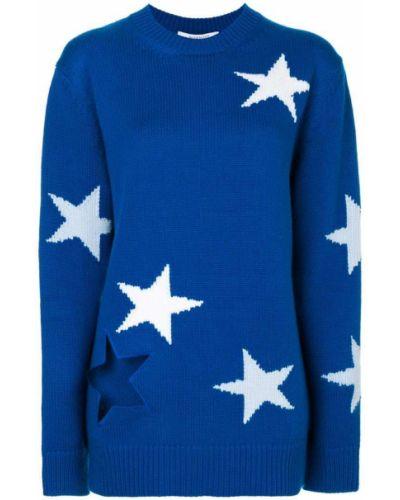Вязаный джемпер с вышивкой свободного кроя Givenchy