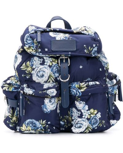 С ремешком синий рюкзак на бретелях с пряжкой Monnalisa