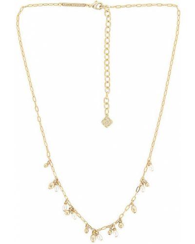 Biały złoty naszyjnik z pereł Kendra Scott