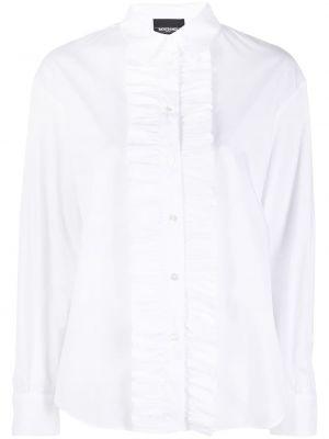 Хлопковая белая классическая рубашка с воротником Simonetta Ravizza