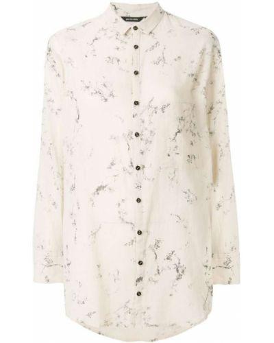 Рубашка с принтом белая Pas De Calais