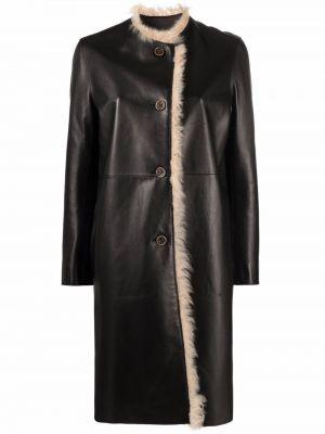 Черное длинное пальто Marni