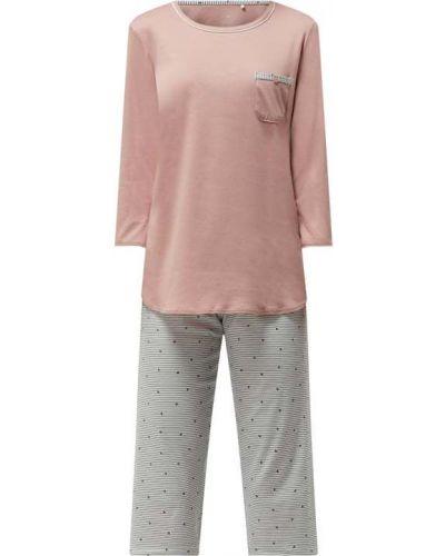 Różowa spodni piżama bawełniana w paski Calida