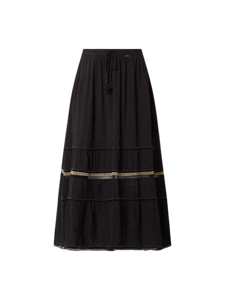 Długa spódnica z wiskozy - czarna Superdry