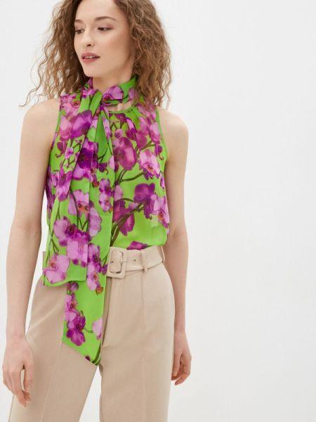 Фиолетовая блузка с бантом Арт-Деко