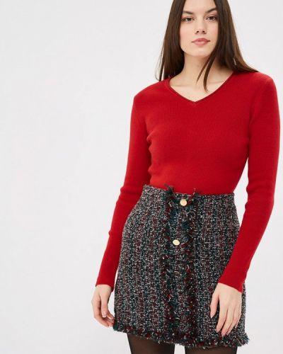 Пуловер свободного кроя красный Free Age