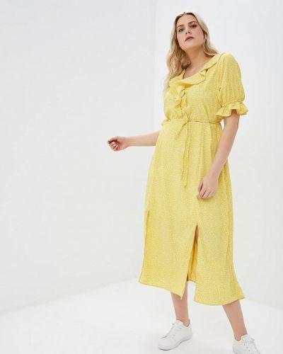 Желтое платье Lost Ink Plus