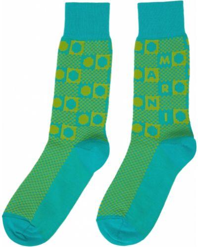 Зеленые носки жаккардовые Marni