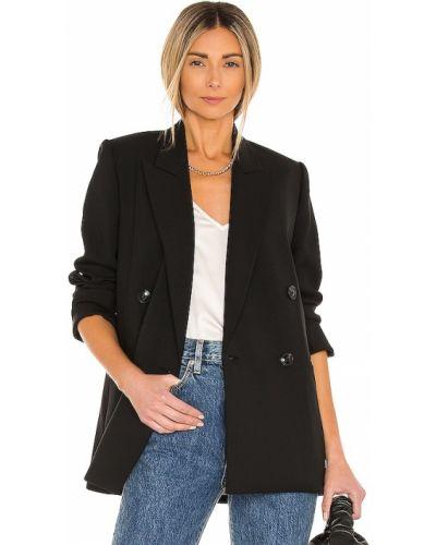 Шерстяной черный пиджак с подкладкой Rebecca Taylor