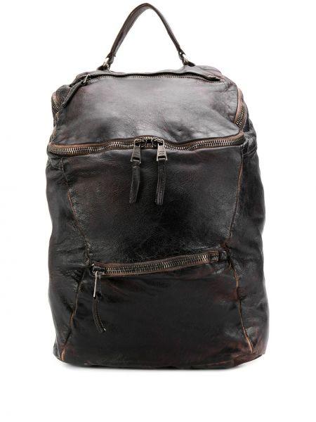 Klasyczny czarny plecak skórzany Giorgio Brato