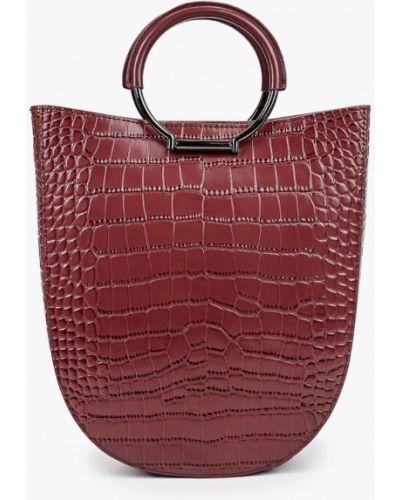 Красная кожаная сумка из натуральной кожи Ekonika
