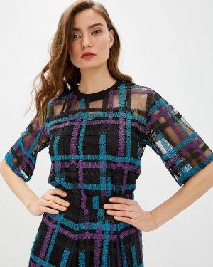 Блузка с коротким рукавом черная Armani Exchange