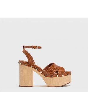 Туфли на каблуке на платформе Stradivarius