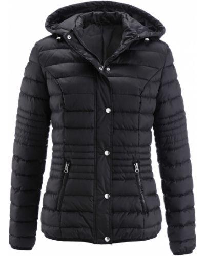 Стеганая куртка черная с подкладкой Bonprix