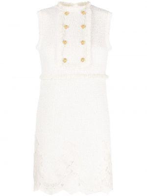 Платье твидовое - бежевое Elisabetta Franchi