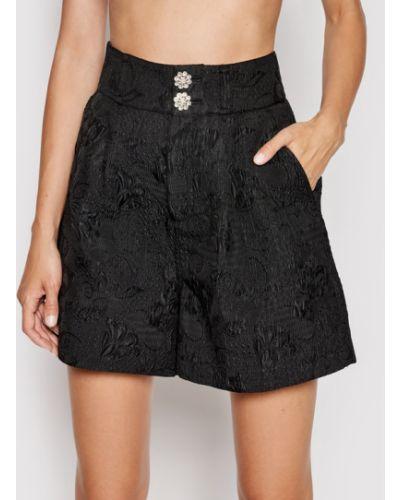 Czarne szorty materiałowe Custommade