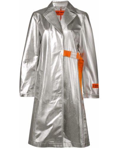 Приталенное длинное пальто с капюшоном Heron Preston