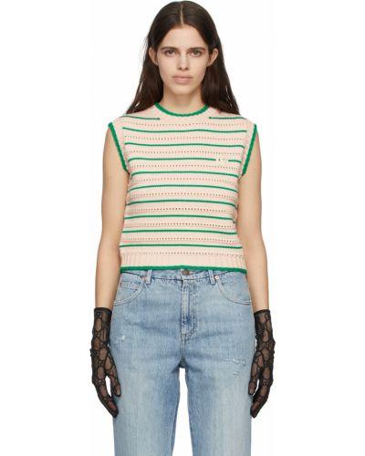 Черные нейлоновые перчатки Gucci