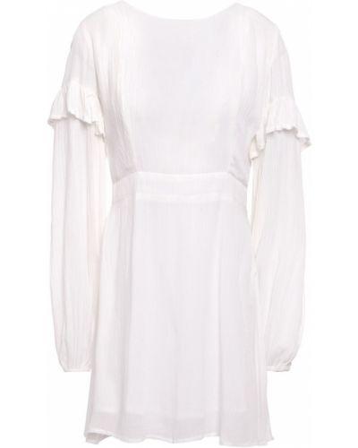 Пляжное белое платье мини на крючках Sundress