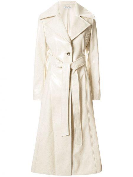 Шерстяное бежевое длинное пальто Rejina Pyo
