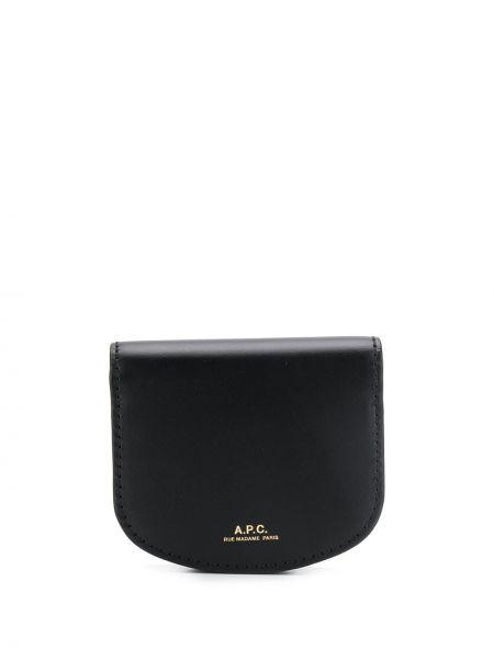 Хлопковый черный кошелек с карманами на молнии A.p.c.
