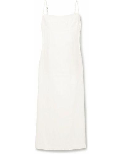 Белое текстильное платье миди Haight